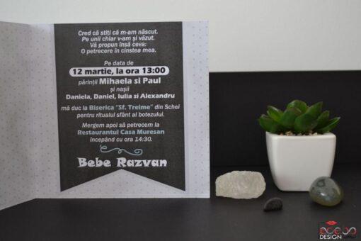 Invitatie botez Bebe Razvan 2