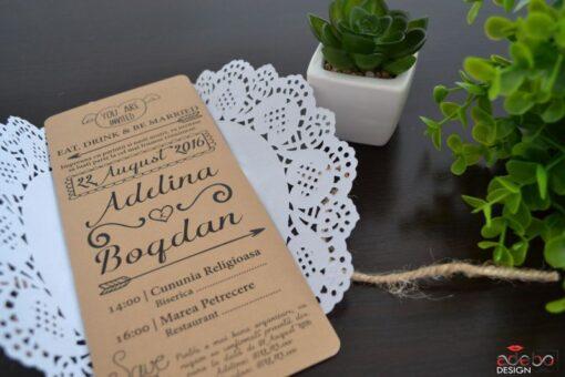 Invitatie nunta Rustic 3