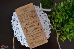 Invitatie nunta Rustic
