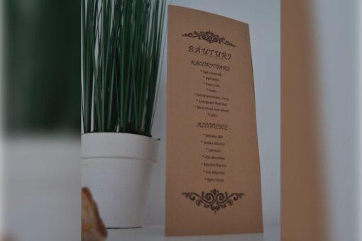Meniu nunta – Rustic 3