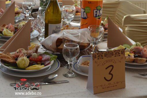 Meniu masa cu numar inclus - Nandre 3