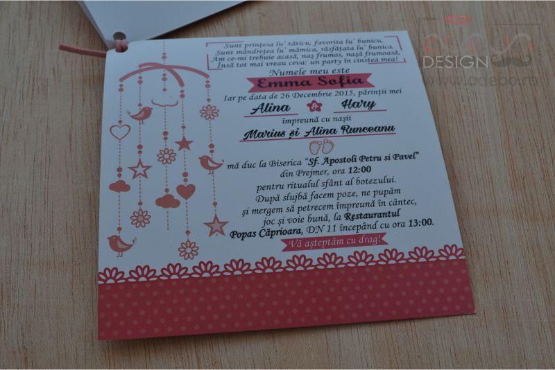 Invitatie Botez Emma Propsuri Nunta Propsuri Botez Propsuri