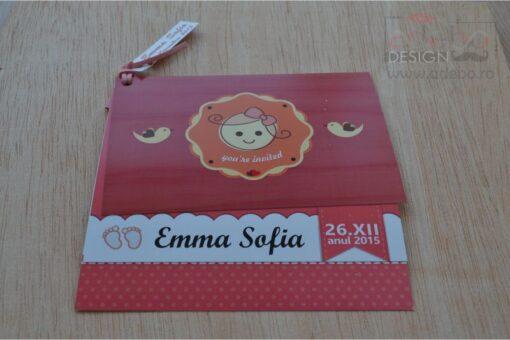 Invitatie botez Emma 1