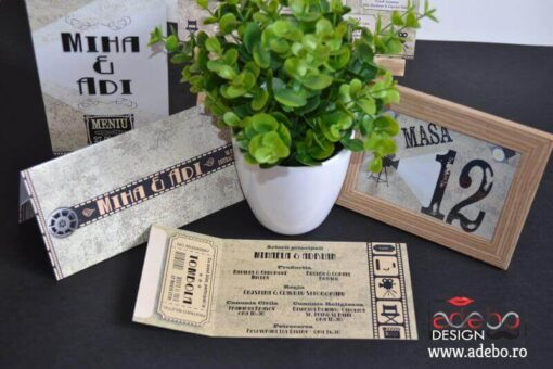 Invitatie nunta Bilet Cinema (12)