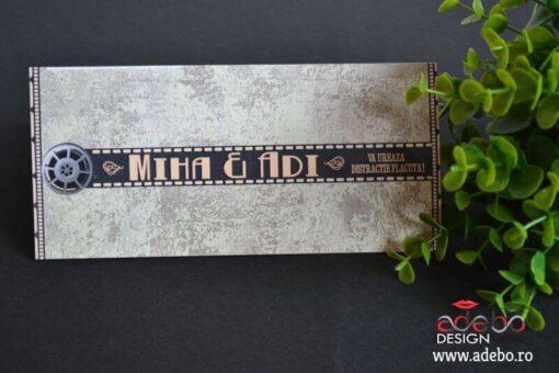 Invitatie nunta Bilet Cinema (5)