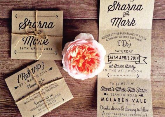 Invitatie nunta ce se deschide in trei - invitatie veche
