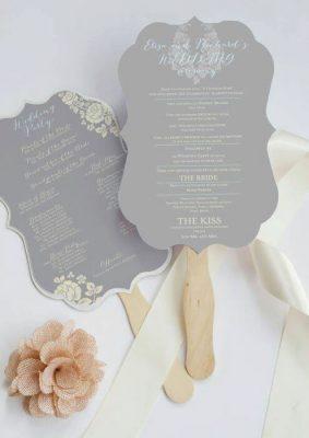 Invitatie nunta gri pe bat de inghetata