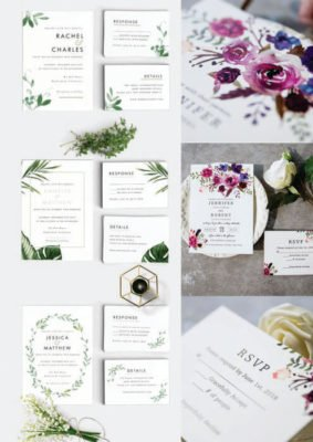 Invitatie nunta natura - verde sau florala