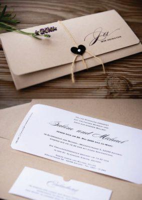 Invitatie nunta tip bilet intrare - carton maro