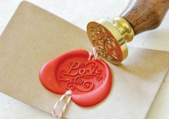 Stampila ceara Love pentru invitatii nunta