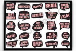 Propsuri Petrecerea Burlacitelor - Roz pe negru