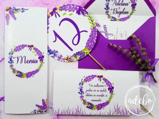 Accesorii nunta - papetarie nunta tema Lavanda