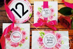 Accesorii papetarie nunta - Bujori