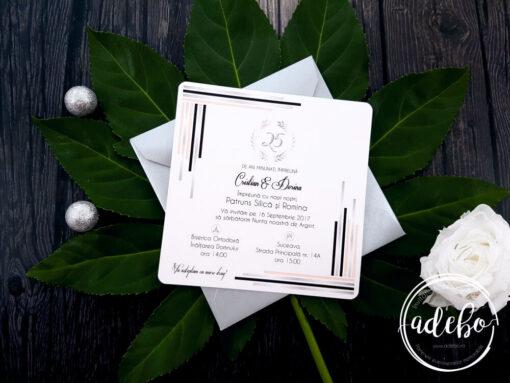 Invitatie 25 ani casatorie
