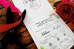 Invitatie Nunta flori Bujori