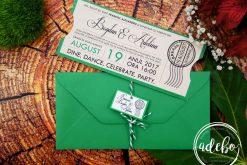 Invitatie bilet teatru - nunta si botez