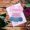 Invitatie botez Fustita Roz