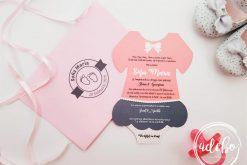 Invitatie botez fetita - Fustita Roz