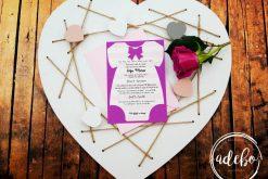 Invitatie botez personalizate Body Fetita