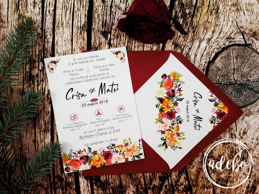 Invitatie Nunta Derya Invitatii Nunta Pesonalizate Invitatii