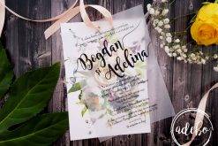Invitatie nunta Lena - foaie translucida