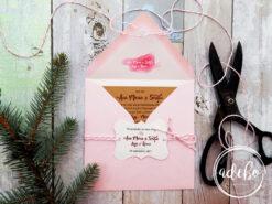 Invitatie nunta Leyla - invitatii nunta kraft