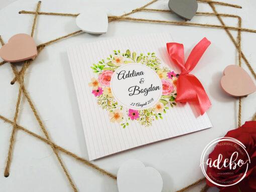 Invitatie nunta Sibel - invitatie florala
