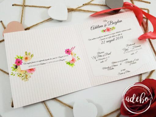 Invitatie nunta Sibel - invitatii cu tematica florala