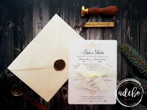 Invitatie nunta cu sigiliu - Ami