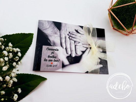 Invitatie nunta si botez la un loc