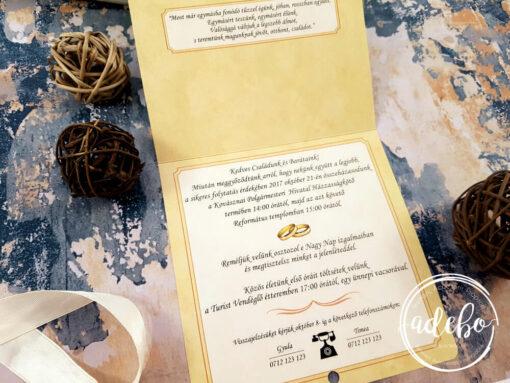 Invitatii nunta Familie
