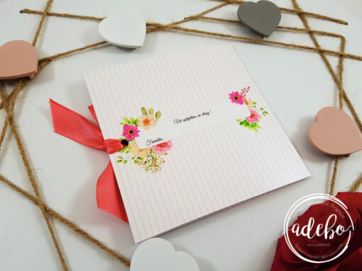 Invitatii nunta florale - Sibel