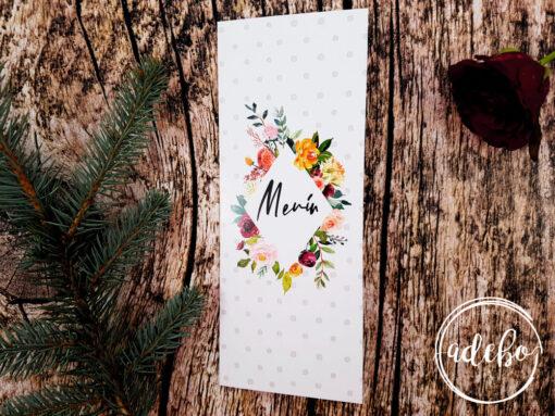Meniu nunta Derya - buline floral