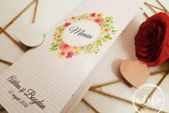 Meniu nunta Sibel - meniu floral