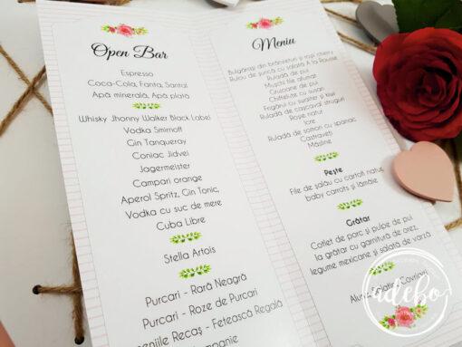 Meniu nunta Sibel - meniuri florale