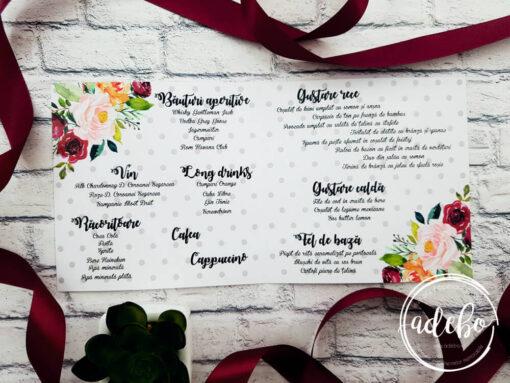 Meniu nunta buline - marsala
