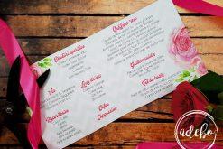 Meniu nunta interior - Bujori