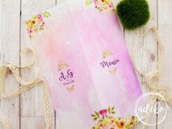 Meniu nunta roz pudra – Pembe