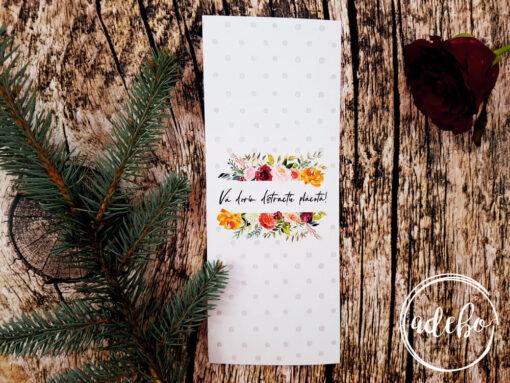 Meniuri nunta cu flori si buline - Derya