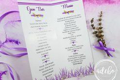 Meniuri nunta tema Lavanda