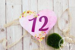 Numar masa inimioara roz - Pembe