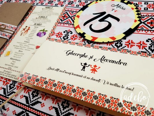 Plic bani nunta - motive traditionale