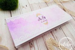 Plic bani nunta - roz floral