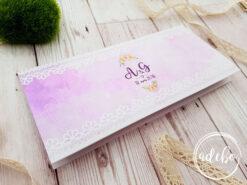 Plic bani nunta – roz floral