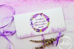 Plic bani nunta - tema Lavanda