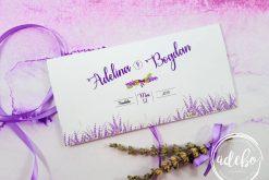 Plicuri bani nunta - tema Lavanda