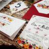 Set accesorii nunta Derya - plic bani - numere masa - meniu