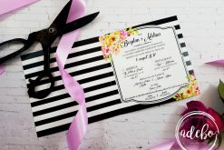invitatie nunta - Minola - black and white