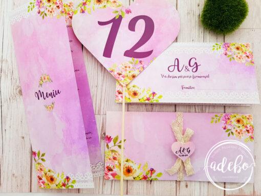 pachet accesorii nunta - Pembe
