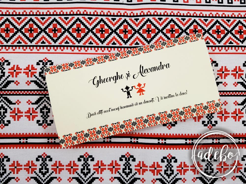 Invitatie Nunta Cu Motive Traditionale Romanesti Invitatii Nunta